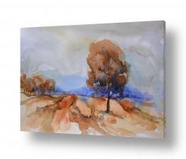 ציורים עירוני וכפרי | עצים