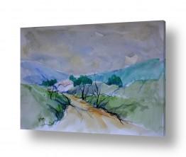 ציורים ציור בצבעי מים | נוף