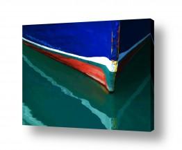 ציורים מים | מגע של צבע