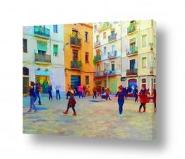ציורים אנשים ודמויות | רוקדים ברחובות