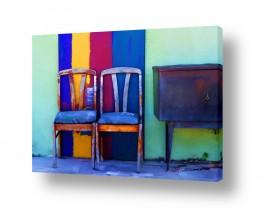 ציורים אורית גפני | מקום לשניים