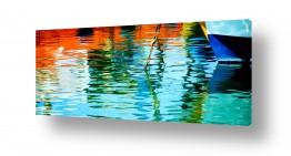 ציורים מים | צבעים בנמל
