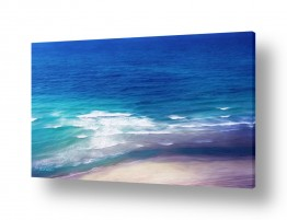 מים נוף ים | מגע הגלים