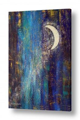 ציורים אבסטרקט | אגדת לילה