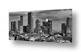תמונות נופים נוף נוף פנורמי | תל אביב בשחור לבן