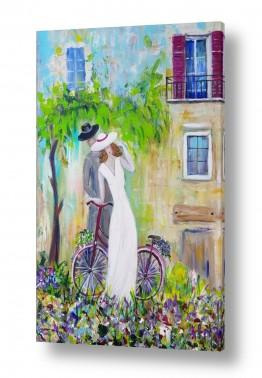 ציורים רוחלה פליישר | אהבה בשניים