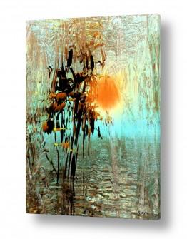 ציורים מיסטיקה | זריחה בצבעי שלכת