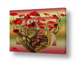 פרחים פרגים | על עדן החלון
