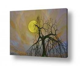 ציורים רעיה גרינברג | הירח