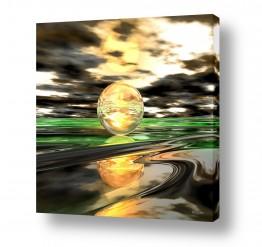 ציורים ציורים אנרגטיים | The moon
