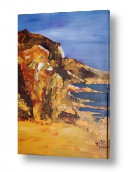 ציורים ציור | מצוק לחוף הים
