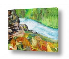 ציורים מים | זרימת הנחל