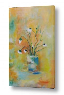 ציורים טבע דומם | כד פרחים 1
