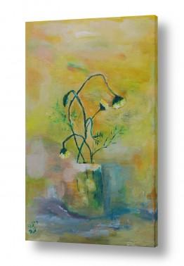 ציורים טבע דומם | כד פרחים 3