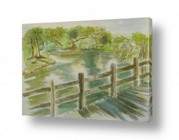 ציורים ציור בצבעי מים | על גדות הירקון