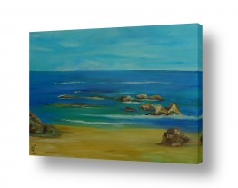 ציורים מים | חוף הים 2