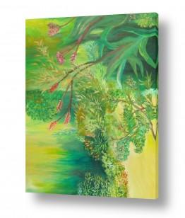 ציורים טבע דומם | צמחים בגינה