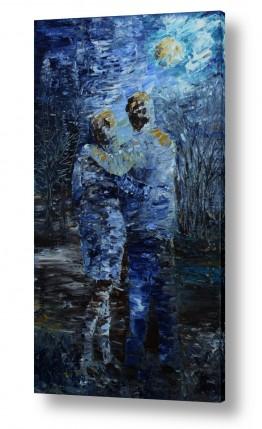 ציורים רוני רות פלמר   ליל ירח