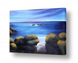 ציורים מים | בין הסלעים