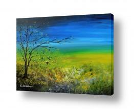 ציורים רוני רות פלמר   פריחה אביבית