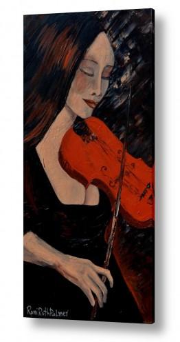 ציורים רוני רות פלמר   נגנית הכינור