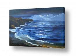 ציורים מים | גלים מתנפצים