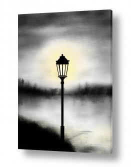 ציורים טבע דומם   lamp