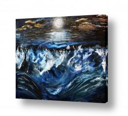 ציורים מים | כוחו של ירח