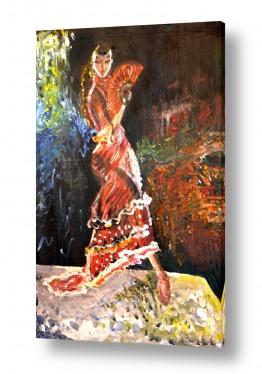 ציורים ציורים אנרגטיים | פלמנקו