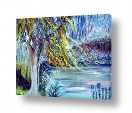 ציורים מים |  על גדות הירדן