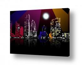 נוף עירוני בנינים | צבע הלילה