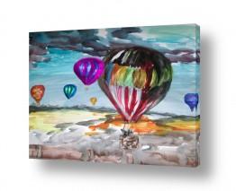 תמונות לפי נושאים צבעי אקריליק | צבע במדבר