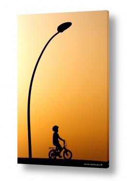 כלי רכב אופניים | לנסוע בשקיעה