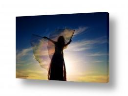 תמונות לפי נושאים חלום | צללית בשקיעה