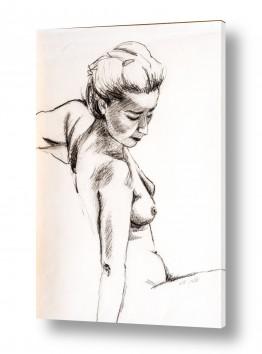 ציורים רישום | קו של אישה