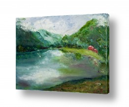 ציורים מים | ירוק