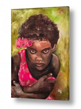 אנשים ודמויות פורטרטים | ילדה אתיופית