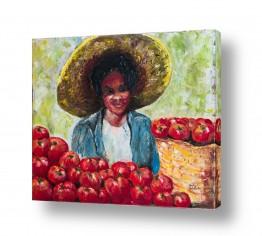 אנשים ודמויות פורטרטים | מוכרת העגבניות