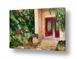 ציורים עירוני וכפרי | חצר ירושלמית