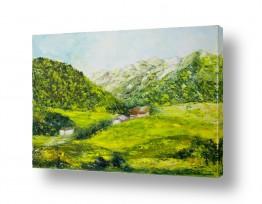 ציורים ציור | נוף הררי