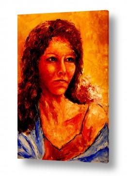 תמונות לפי נושאים צעיף | אישה עם צעיף כחול