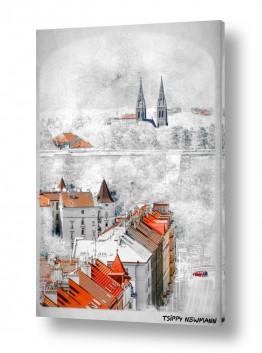 בתים גגות | גגות אדומים
