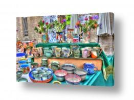 טבע דומם שולחנות | שוק בצלאל, ירושלים