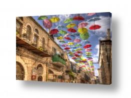 טבע דומם חלונות | ירושלים של מטריות