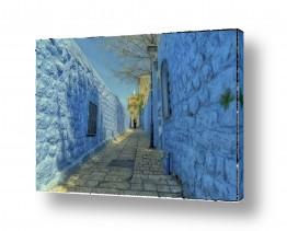 צילומים עיבודים | סמטה בכחול