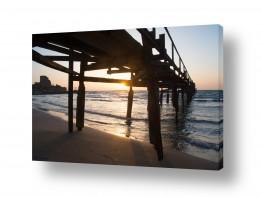 צילומים חופים וים |  שקיעה על הגשר