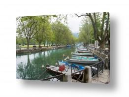 צילומים אורי לינסקיל | סירות עוגנות בנהר