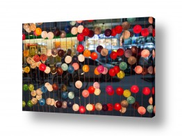 תמונות לפי נושאים פנס רחוב | כדורים צבעונים
