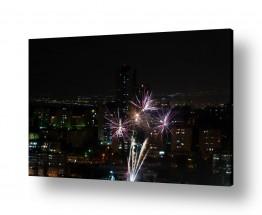 צילומים עירוני | זיקוקים מהמרפסת