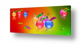 תמונות לחדר תינוקות | תפוחים ציבעונים